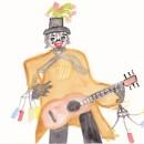 épouvantail musicien